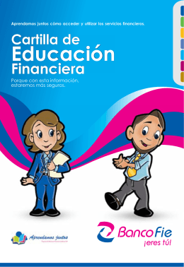 Banco Fie - Cartilla de Educación Financiera
