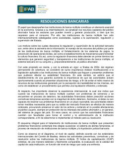 resoluciones bancarias