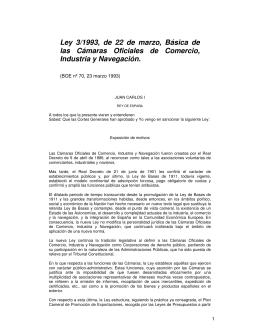 Ley  3/1993,  de  22  de ... las  Cámaras  Oficiales  de  Comercio,
