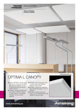 OPTIMA L CANOPY Techos SOLUCIONES paredes