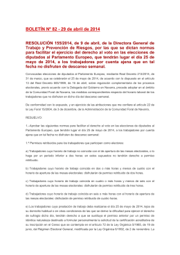 Resolución 155/2014 de 9 de abril
