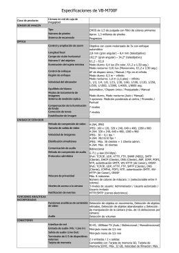 VB-M700F Specification Sheet [PDF, 60 KB]