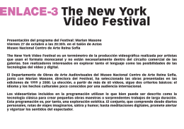 Enlace-3. The New York Film Festival