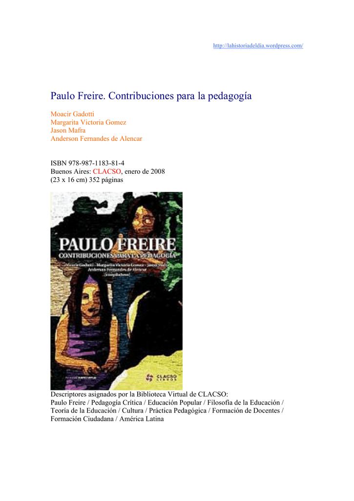 25492640 Freire Contribuciones para la pedagogia
