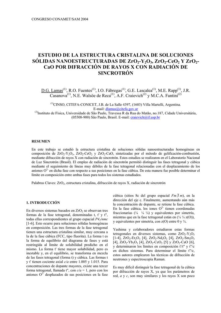 Estudio De La Estructura Cristalina De Soluciones S Lidas