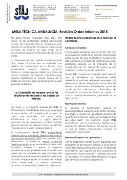 10-09-2015 Hoja informativa Mesa técnica revisión Orden interinos.