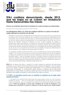 21-04-2015 NOTA informativa Denuncia falta cobertura IT Andalucía.
