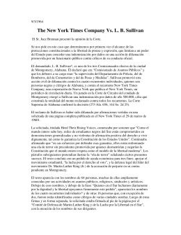 The New York Times Company Vs. L. B. Sullivan . Real malicia