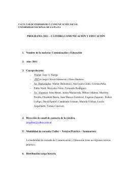 Comunicación y Educación - 2011