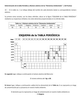 respuesta de la pregunta no10 1era evaluacin 2010 ii - Tabla Periodica Tierras Raras