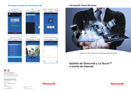 Honeywell Cloud Services Principales pantallas de Total Connect 2.0E