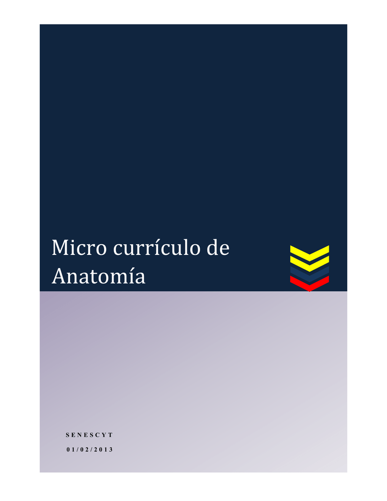 Micro currículo de Biología Anatomía
