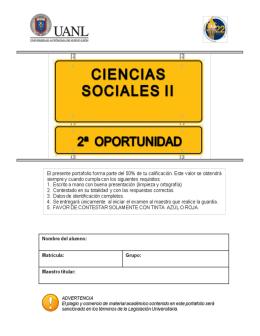 Portafolio de Evidencias de Ciencias Sociales II