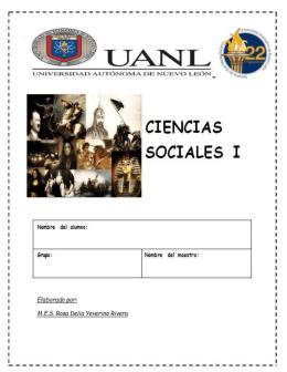 Portafolio de Evidencias de Ciencias Sociales I