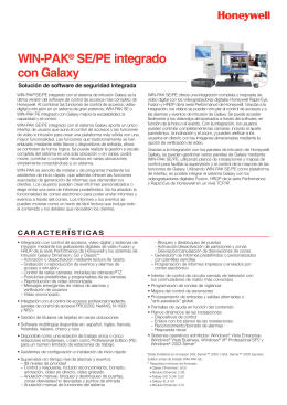 WIN-PAK SE/PE integrado con Galaxy ®