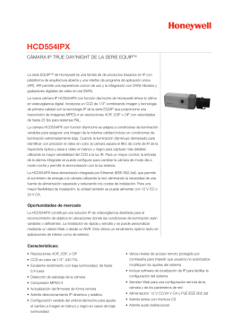 HCD554IPX CÁMARA IP TRUE DAY/NIGHT DE LA SERIE EQUIP