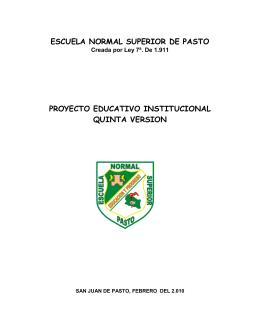 PEI - PROYECTO EDUCATIVO INSTITUCIONAL