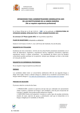 Descargar Documento: INFO UDA REPER SOBRE OPOSICION GENERAL EPSO-AD-276-14-AD5