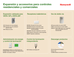 Expansion & Accessories for Residential & Commercial Control - Spanish
