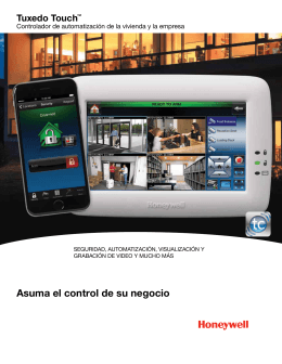 Tuxedo Touch Commercial End User Spanish Brochure