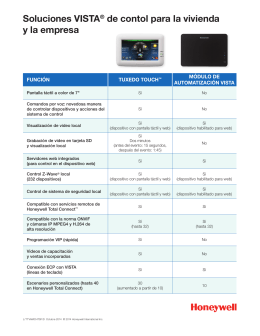 VISTA Home and Business Control Solutions Comparison Chart - Spanish