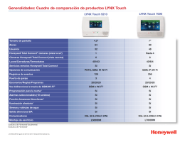 LYNX Touch Comparison Chart - Spanish