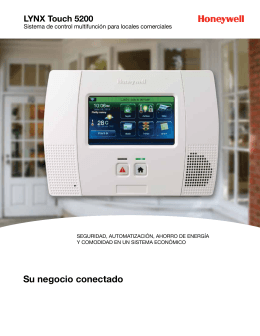 LYNX Touch 5200 Commercial EU Sell Sheet (Spanish)