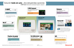 LYNX Touch Features Diagram - Spanish