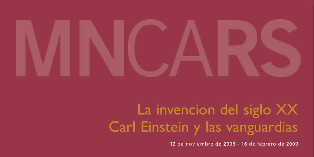 Folleto de La invención del siglo XX. Carl Einstein y las vanguardias