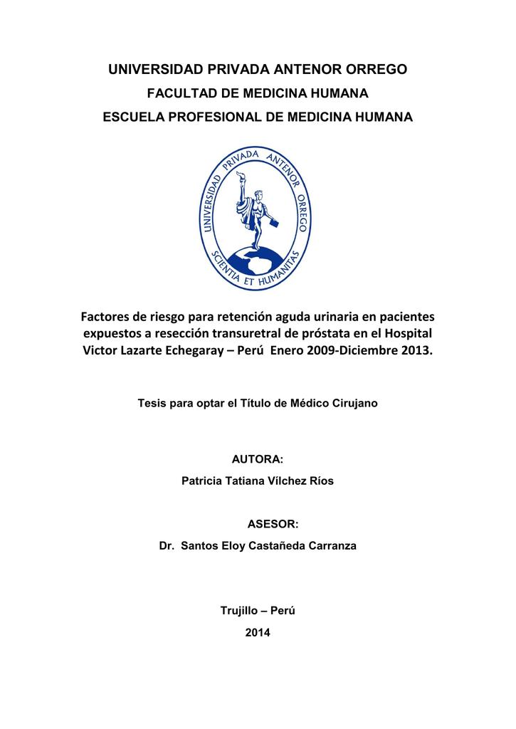 reseccion transuretral de prostata pdf