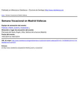Semana Vocacional en Madrid-Vallecas