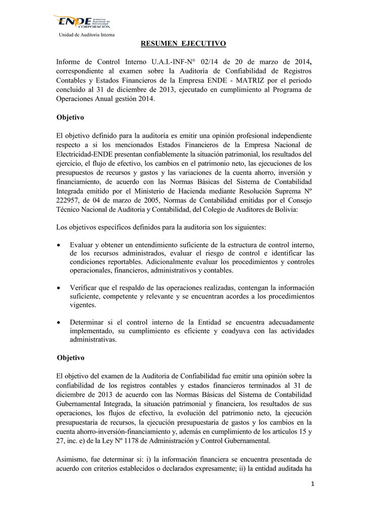 Auditoria De Confiabilidad De Registros Contables Y Estados
