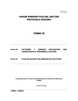 TOMO III VISIÓN PERSPECTIVA DEL SECTOR FRUTICOLA CHILENO