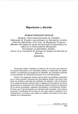 Hipertextos  y  derecho
