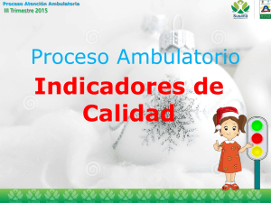 Informe Proceso Ambulatorio III Trimestre 2015