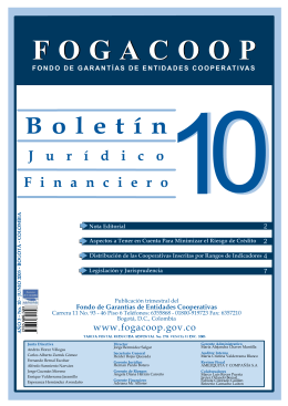 Descargar el archivo Boletín Financiero y Jurídico No. 10 Tipo de archivo: pdf Tamaño: 279 kB
