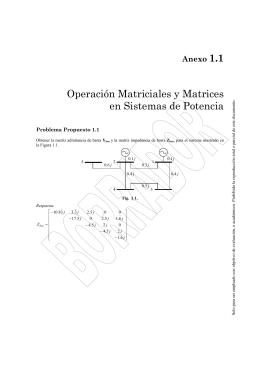 Operaciones Matriciales y Matrices en Sistemas de Potencia