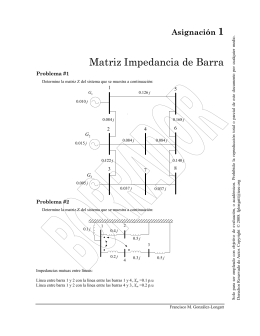 Matriz Impedancia de Barra