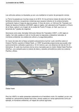 Los vehículos aéreos no tripulados ya son una realidad en... La Tierra ha pasado por muchas cosas en el 2010....