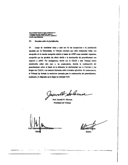 Signature page for Decision on Jurisdiction (Spanish)