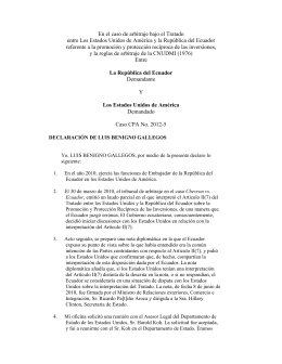Witness Statement of Lluis Benigno Gallegos (Spanish)