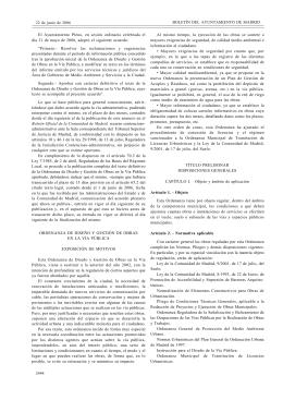 Ayuntamiento Madrid - Ordenanza de Diseño y Gestión de Obras en la Vía Pública