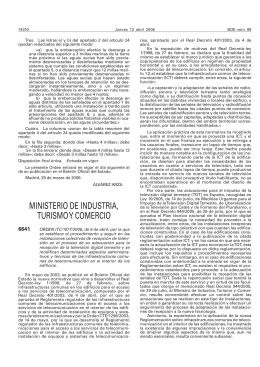 Orden ITC/1077/2006, de 6 de abril, Por la que se establece el procedimiento de adecuación de instalaciones colectivas de recepción de televisión para la recepción de la televisión digital terrestre y se modifican determinados aspectos de las ICTs