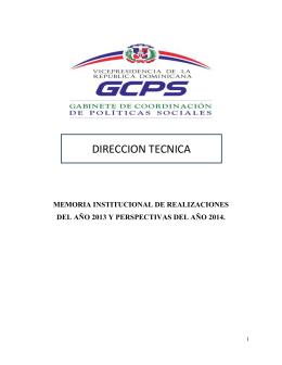 DIRECCION TECNICA MEMORIA INSTITUCIONAL DE REALIZACIONES