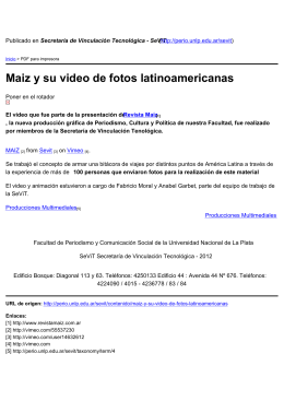Maiz y su video de fotos latinoamericanas