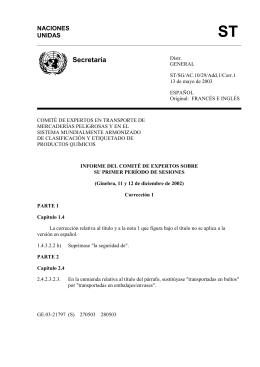 ST Secretaría NACIONES UNIDAS