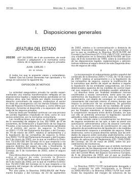 Ley 34/2003, de 4 de noviembre