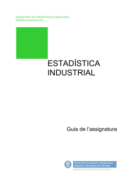 Estadística Industrial