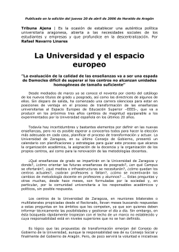 Ver documento pdf La Universidad y el espacio europeo