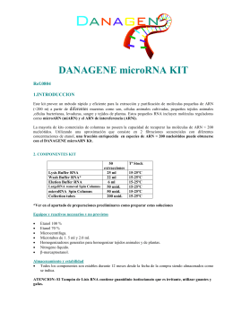 DANAGENE microRNA KIT  Ref.0804 1.INTRODUCCION